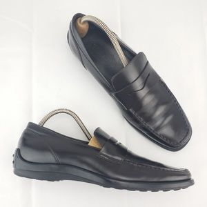 TODS Penny Driving Leather Slip On Loafer Classy